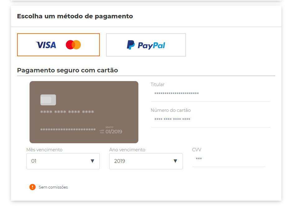 Métodos de pago con Sendiroo
